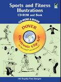 Sports and Fitness Illustrations Book and CD-ROM [With CDROM]