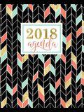 Agenda: 2018 Agenda semana vista español: dorado, coral y verde menta: 190 x 235 mm, 160 g/m²