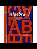Saxon Algebra 1 Answer Key & Tests Third Edition