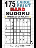 175 Large Print Hard Sudoku Puzzles for Adults: Only One Puzzle Per Page! (Pocket 6x9 Size)