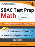 SBAC Test Prep: 4th Grade Math Common Core Practice Book and Full-length Online Assessments: Smarter Balanced Study Guide With Perform