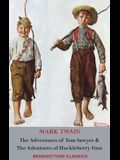 The Adventures of Tom Sawyer AND The Adventures of Huckleberry Finn (Unabridged. Complete with all original Illustrations)
