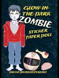 Glow-In-The-Dark Zombie Sticker Paper Doll