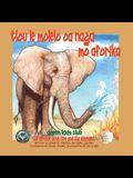 Tlou le Molelo oa naga mo Aforika - In Setswana - The African Bush Fire and the Elephant