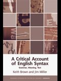 A Critical Account of English Syntax: Grammar, Meaning, Text