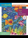 Zendoodle Color-By-Number: Sea Life: Underwater Worlds to Color and Display