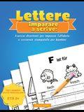 Lettere Imparare a scrivere: Esercizi divertenti per imparare l'alfabeto e scrivere in stampatello per bambini