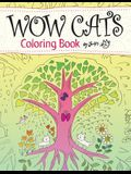 WOW CATS Coloring Book by Junko (Japanese-English edition)