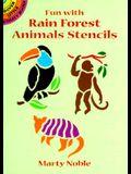 Fun with Rain Forest Animals Stencils