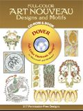 Full-Color Art Nouveau Designs and Motifs CD-ROM and Book (Dover Electronic Clip Art)