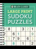Brain Games - Large Print Sudoku Puzzles (Green)