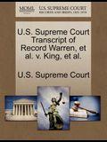 U.S. Supreme Court Transcript of Record Warren, Et Al. V. King, Et Al.