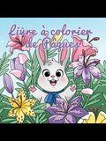 Livre à colorier de Pâques: Panier de Pâques et livres pour les enfants de 4 à 8 ans