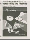 McDougal Littell Jurgensen Geometry: Answer Key for Study Guide for Reteaching & Practice Geometry