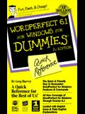 Wordperfect 6.1 for Windows for Dummies: Quick Reference