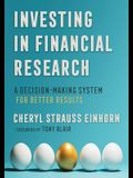 Investing in Financial Research: A Decision-Making System for Better Results