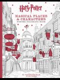 Harry Potter Magical Places & Characters Poster Coloring Book