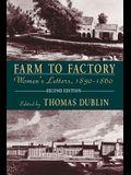 Farm to Factory: Women's Letters, 1830-1860