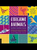 Origami Animals Super Paper Pack: Folding Instructions and Paper for Hundreds of Beasts and Birds--Includes a 32-Page Instruction Book and 232 Sheets