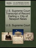 U.S. Supreme Court Transcript of Record Darling V. City of Newport News