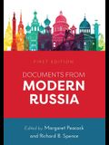 Documents from Modern Russia