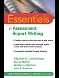 Essentials of Assessment Report Writing