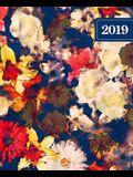 Agenda 2019 Semainier: 19x23cm: Agenda 2019 Semainier: Fleurs Aquarelles Rouges Bleues Et Blanches 5722