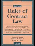Rules of Contract Law: Selections from the Uniform Commerical Code, the Cisg, the Restatement (Second) of Contracts, and the Unidroit Princip