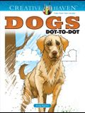Creative Haven Dogs Dot-To-Dot Coloring Book