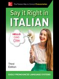 Say It Right in Italian, Third Edition