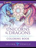 Unicorns and Dragons - Enchanting Fantasy Coloring Book