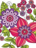 Notebook Doodles Flowers Journal: Lined Journal