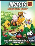Insects Coloring Book: Cute and Funny Bugs & insects Coloring Book Designs for Kids