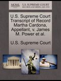 U.S. Supreme Court Transcript of Record Martha Cardona, Appellant, V. James M. Power Et Al.
