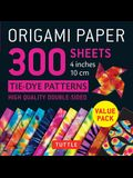Origami Paper 300 Sheets Tie-Dye Patterns 4 (10 CM): Tuttle Origami Paper: High-Quality Double-Sided Origami Sheets Printed with 12 Different Designs