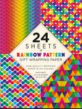 24 Sheets of Rainbow Patterns Gift Wrapping Paper: High-Quality 18 X 24 (45 X 61 CM) Wrapping Paper