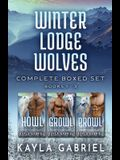 Winter Lodge Wolves Complete Boxed Set - Books 1-3: Large Print
