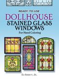 Ready-To-Use Dollhouse Stained Glass Windows for Hand Coloring