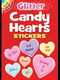 Glitter Candy Hearts Stickers