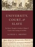 University, Court, and Slave: Pro-Slavery Thought in Southern Colleges and Courts and the Coming of Civil War
