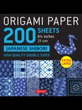 Origami Paper 200 Sheets Japanese Shibori 8 1/4 (21 CM): Extra Large Tuttle Origami Paper: High Quality, Double-Sided Sheets (12 Designs & Instruction