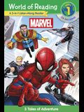 World of Reading Marvel 3-in-1 Listen-Along Reader (World of Reading Level 1): 3 Tales of Adventure with CD!