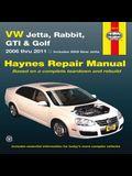 VW Jetta, Rabbit, GTI & Golf 2006 Thru 2011 Haynes Repair Manual: 2006 Thru 2011 - Includes 2005 New Jetta