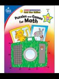 Puzzles and Games for Math, Grade 2: Gold Star Edition