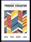 Program Evaluation: An Introduction (Research, Statistics, & Program Evaluation)