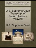 U.S. Supreme Court Transcript of Record Ayres V. Wiswall