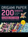 Origami Paper 200 Sheets Flower Patterns 6 (15 CM): High-Quality Double Sided Origami Sheets Printed with 12 Different Designs (Instructions for 6 Pr