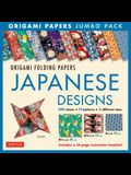 Origami Folding Papers Jumbo Pack: Japanese Designs: 300 High-Quality Origami Papers in 3 Sizes (6 Inch; 6 3/4 Inch and 8 1/4 Inch) and a 16-Page Inst