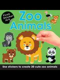 First Sticker Art: Zoo Animals: Use Stickers to Create 20 Cute Zoo Animals