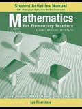 Mathematics for Elementary Teachers: A Contemporary Approach: Student Activities Manual